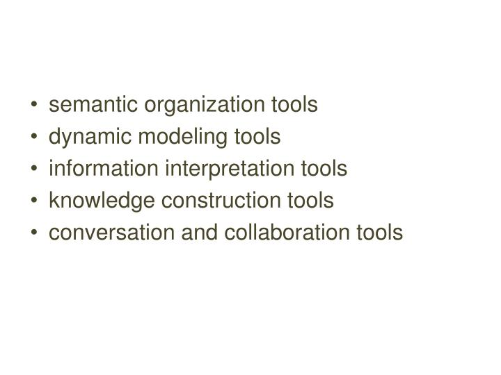 semantic organization