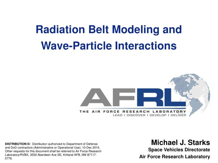 Radiation Belt Modeling and
