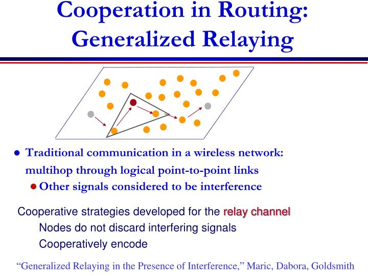 Cooperation in Routing: