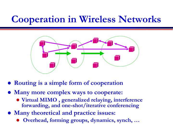 Cooperation in wireless networks
