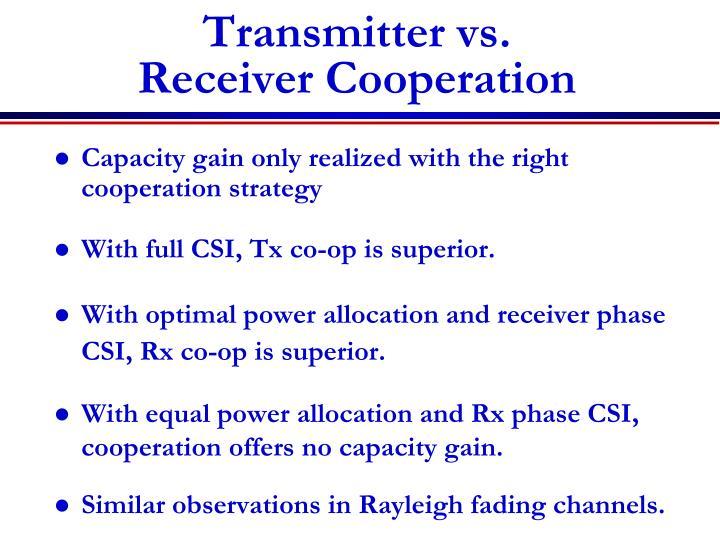 Transmitter vs.