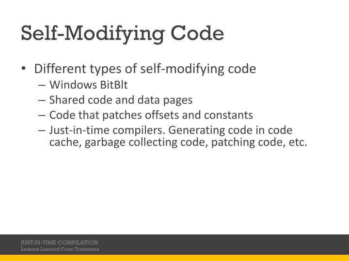 Self-Modifying Code