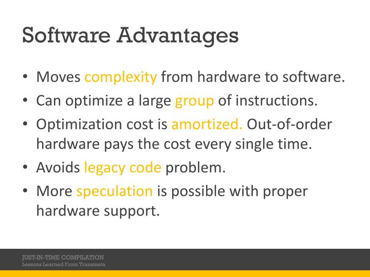 Software Advantages