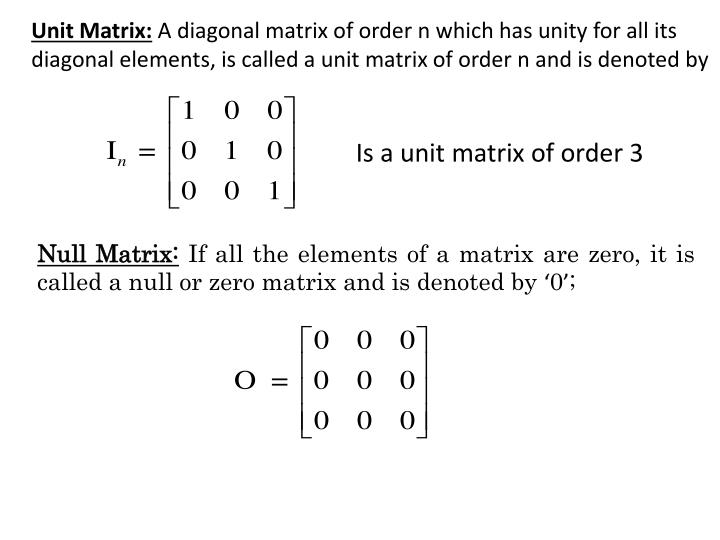 how to find null of a matrix