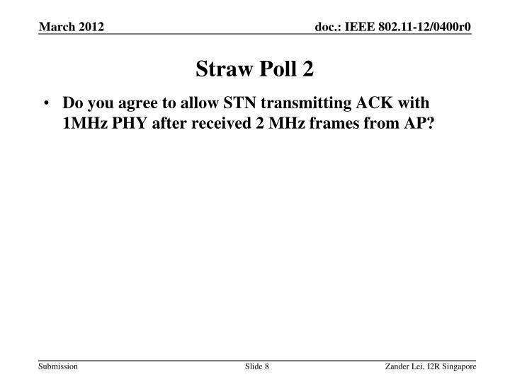 Straw Poll 2