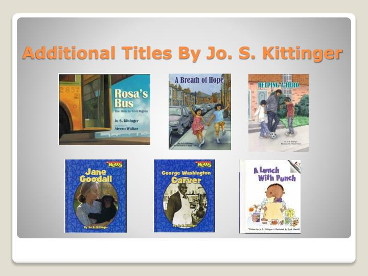 Additional Titles By Jo. S. Kittinger