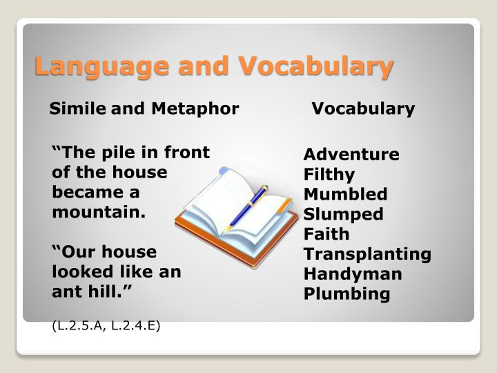 Language and vocabulary