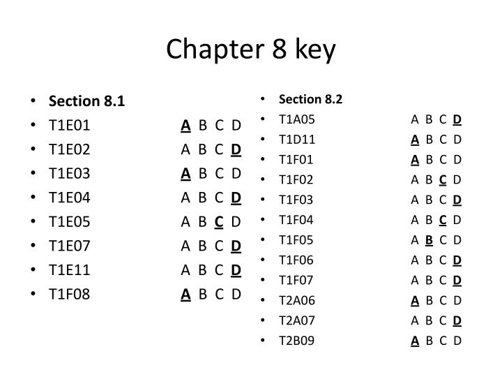 Chapter 8 key