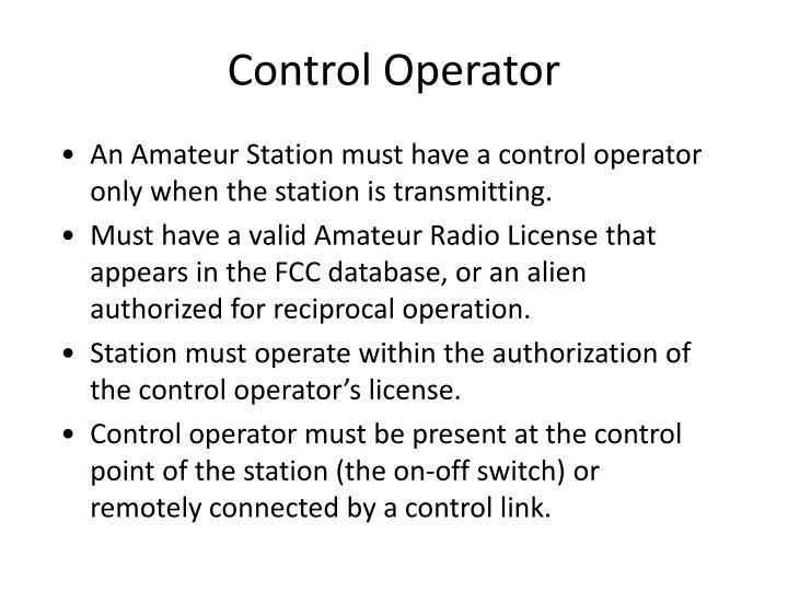 Control Operator
