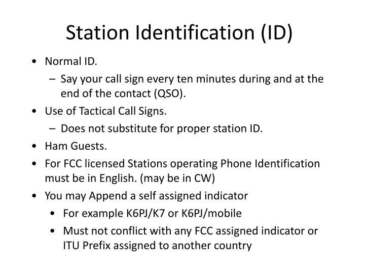 Station Identification (ID)