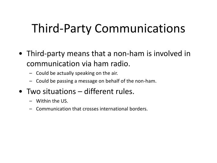 Third-Party Communications