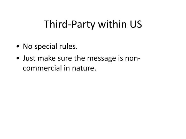 Third-Party within US