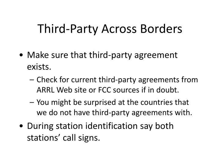 Third-Party Across Borders
