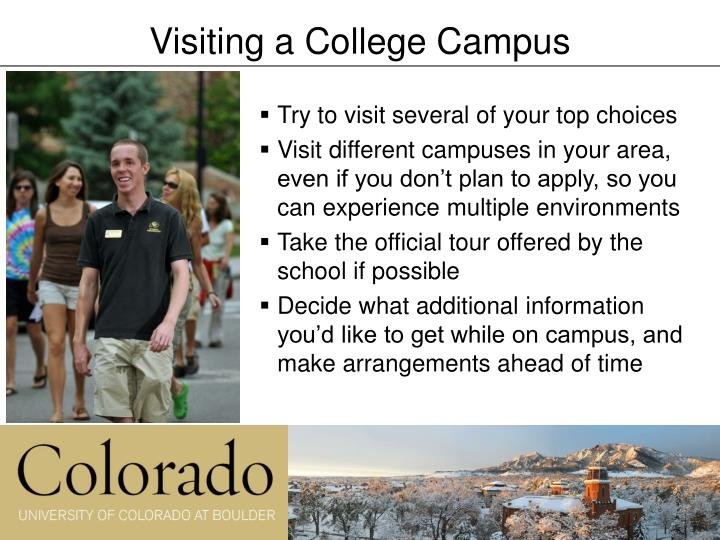 Visiting a College Campus