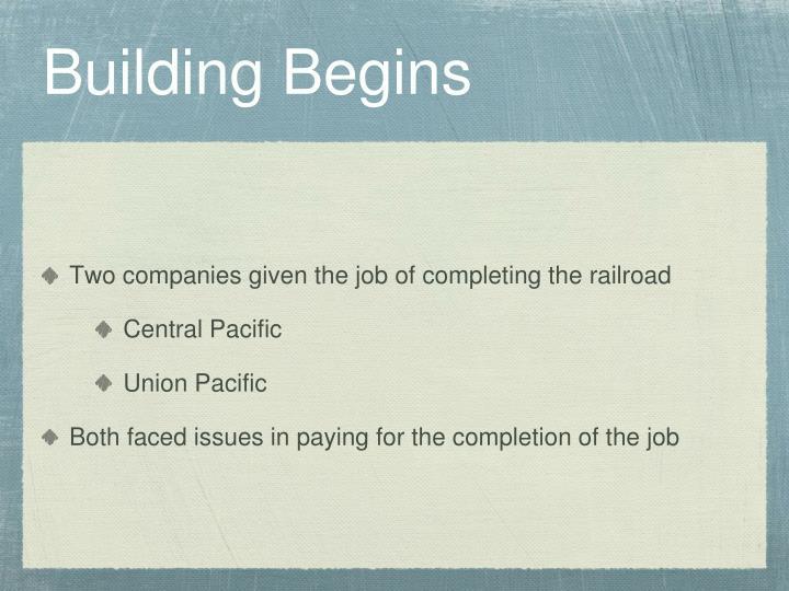 Building Begins