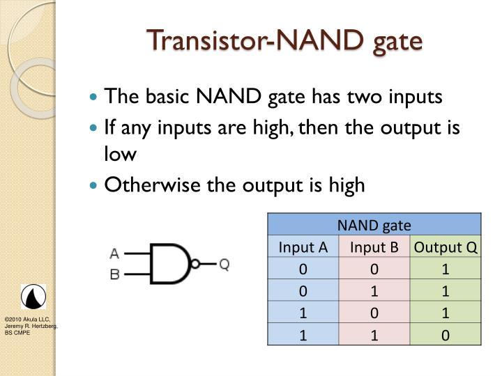 Transistor-NAND gate
