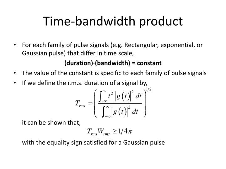 Time-bandwidth product