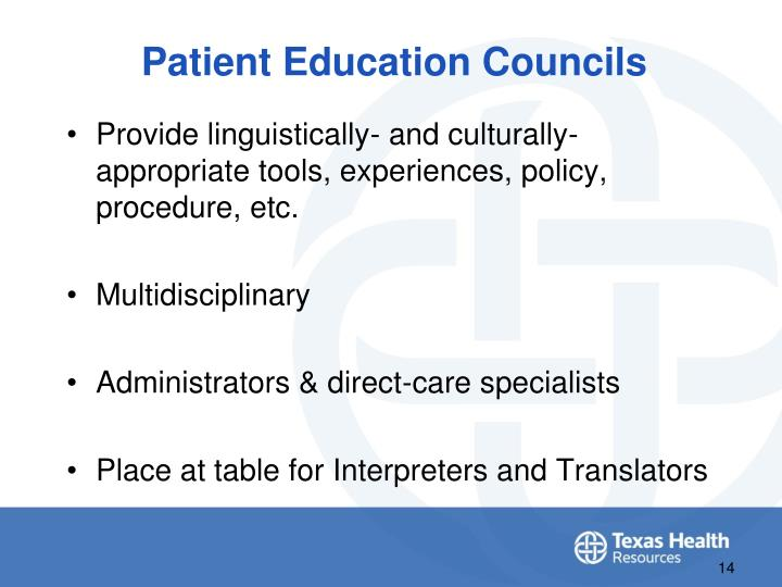 Patient Education Councils