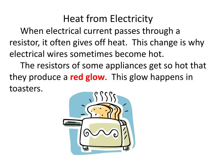 Heat from Electricity