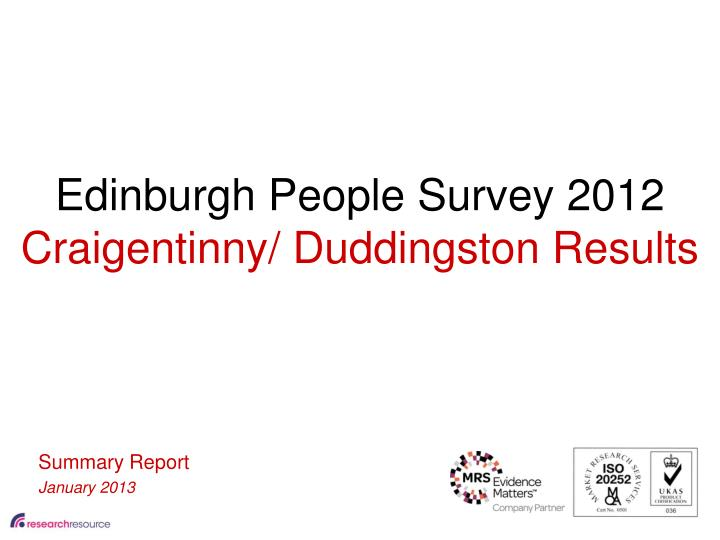 Edinburgh People Survey 2012
