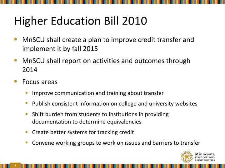 Higher Education Bill 2010
