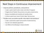 next steps in continuous improvement