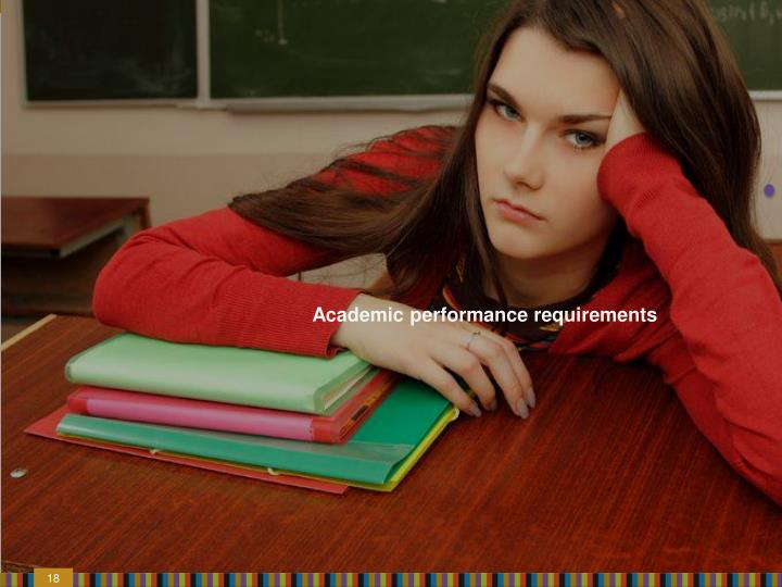 Academic performance requirements