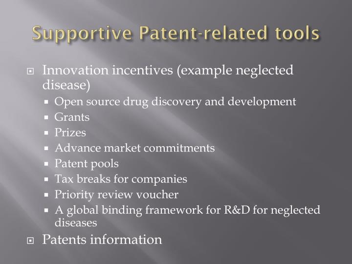 Supportive Patent-related