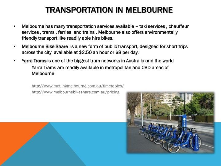 Transportation in Melbourne