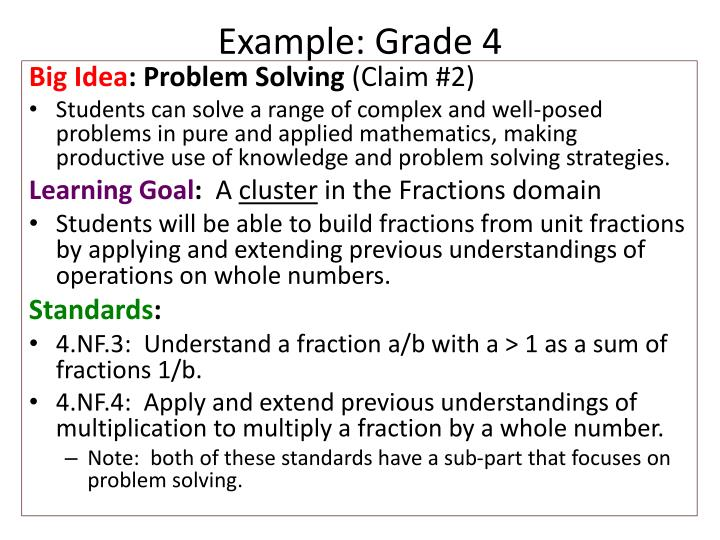 Example: Grade 4