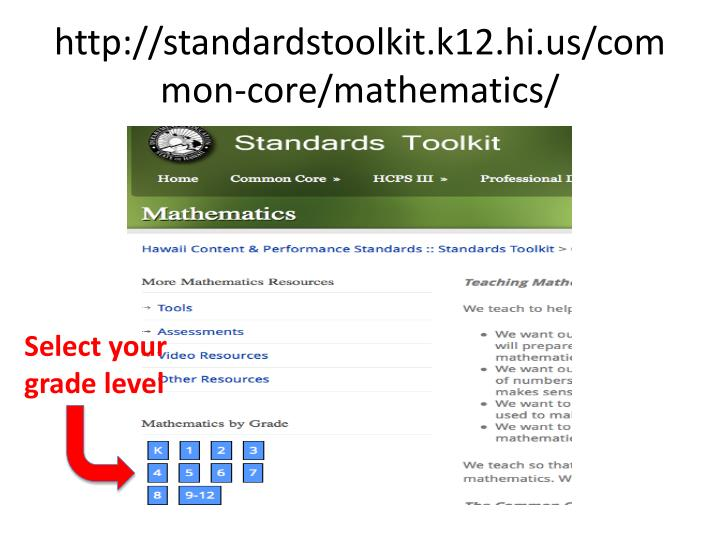 http://standardstoolkit.k12.hi.us/common-core/mathematics/