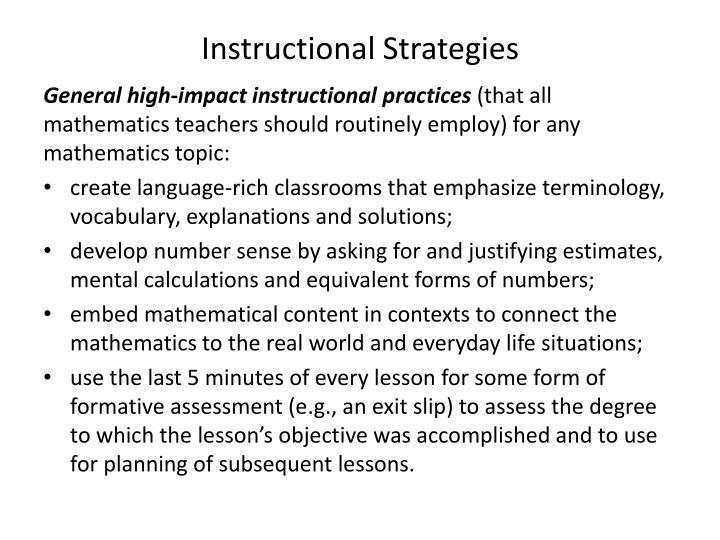 Instructional Strategies