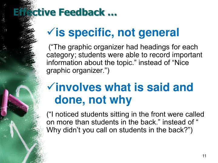 Effective Feedback …