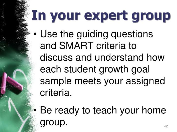 In your expert group