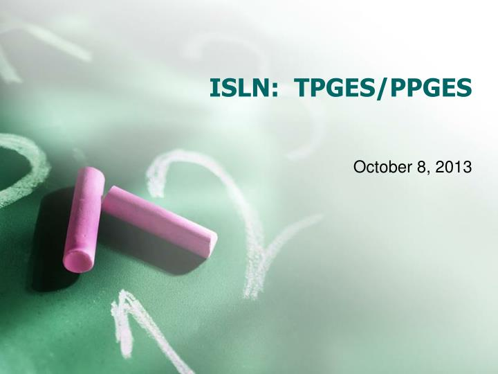 ISLN:  TPGES/PPGES