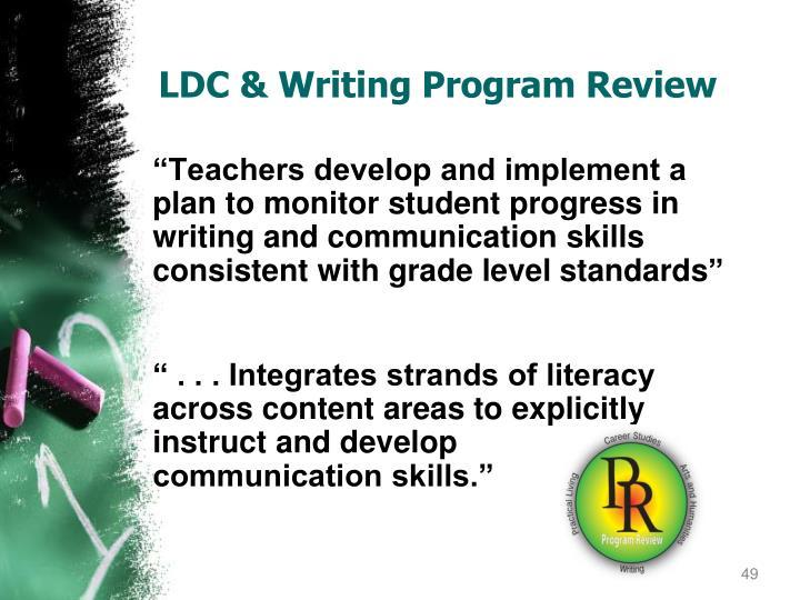 LDC & Writing Program Review