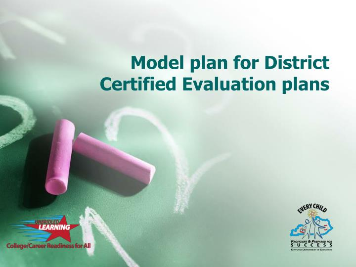 Model plan for District