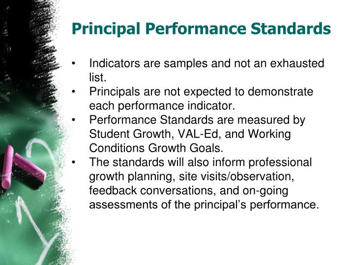Principal Performance Standards