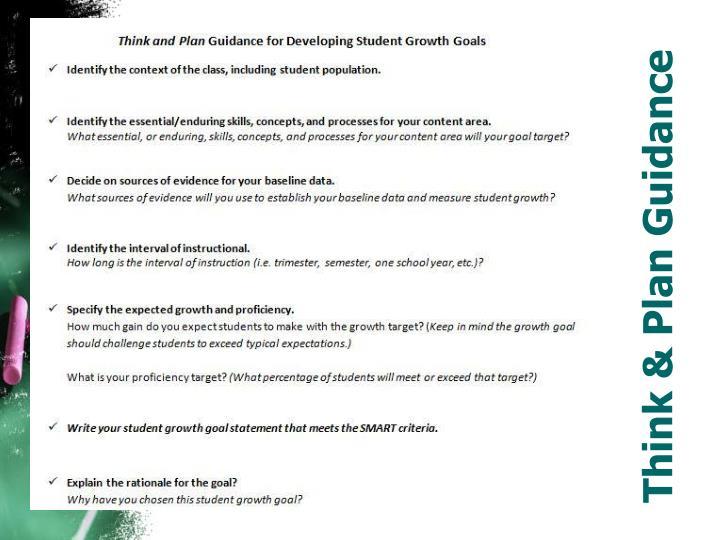 Think & Plan Guidance