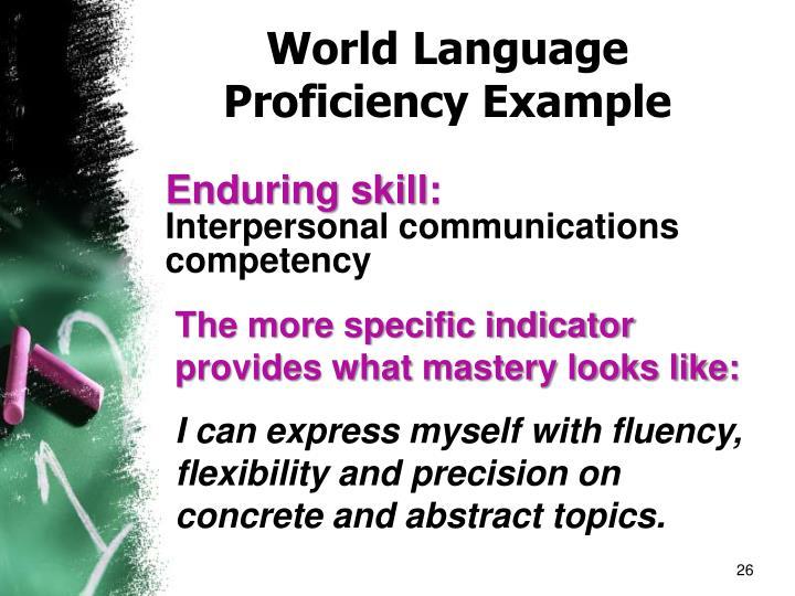World Language Proficiency Example