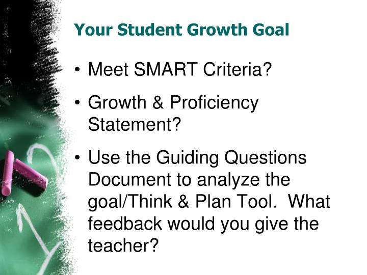 Your Student Growth Goal