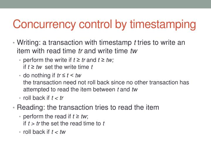 Concurrency control by