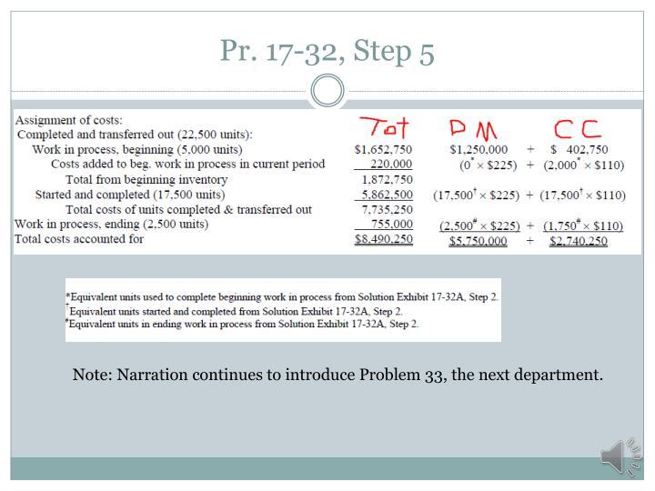 Pr. 17-32, Step 5