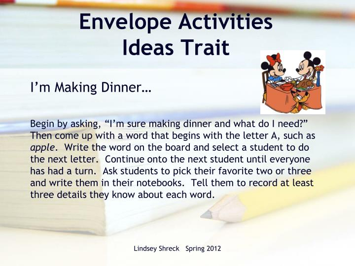6 1 writing traits powerpoint 1 ipad mini for each student and teacher within the writing program the 6 writing traits are explicitly demonstrated via whole group, small group and at.