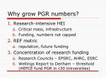 why grow pgr numbers