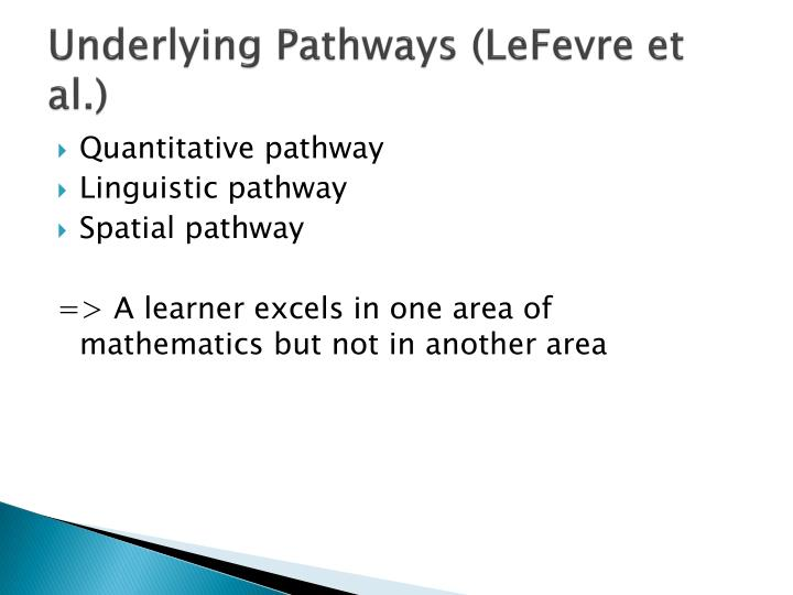 Underlying Pathways (