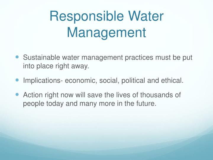 Responsible Water Management