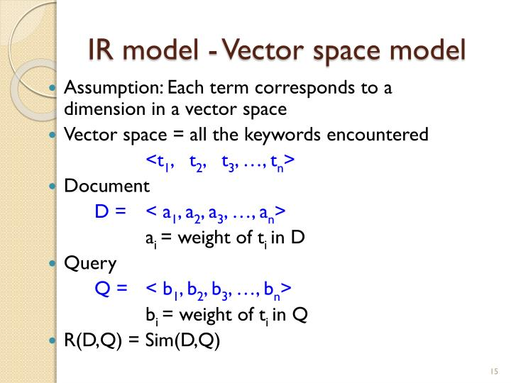 IR model - Vector space model