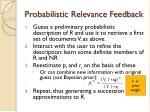 probabilistic relevance feedback1