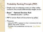 probability ranking principle prp